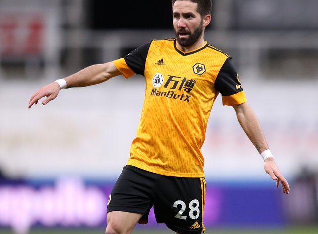 Joao Moutinho in action for Wolves