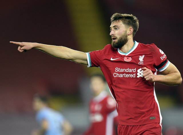 Nat Phillips will start for Liverpool against Southampton after missing the last two matches with injury