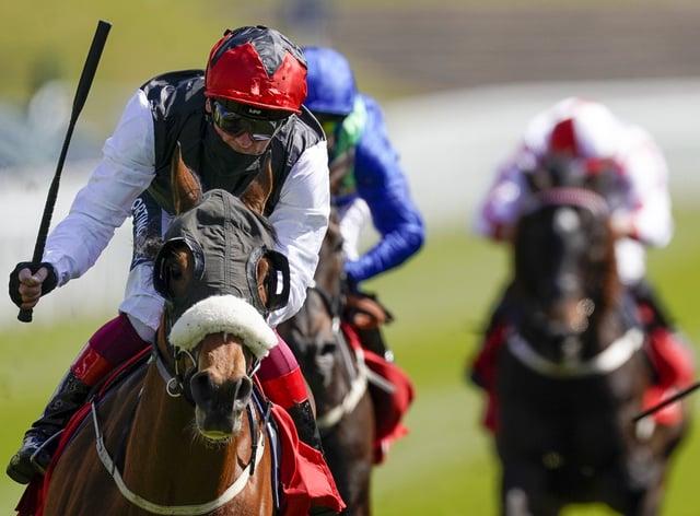 Frankie Dettori riding Falcon Eight win the tote+ Chester Cup