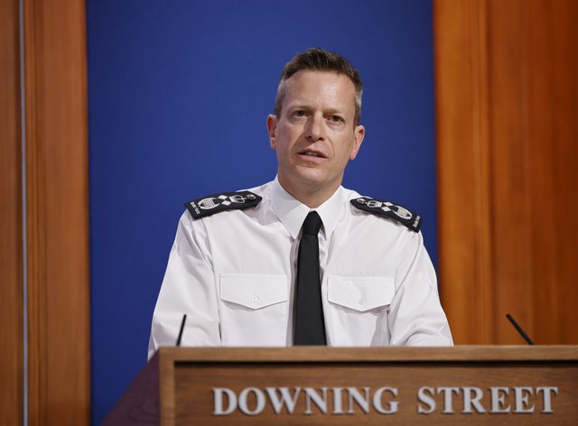 Director general of Border Force Paul Lincoln during a media briefing in Downing Street, London