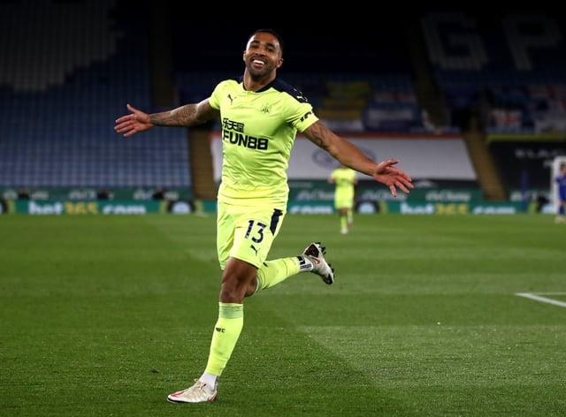 Callum Wilson celebrates for Newcastle