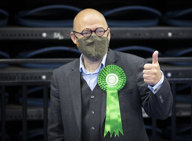 Patrick Harvie giving a thumbs up
