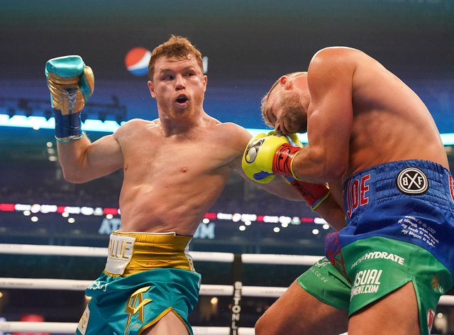 Saul 'Canelo' Alvarez was able to record another victory after Billy Joe Saunders was unable to continue following the eighth round