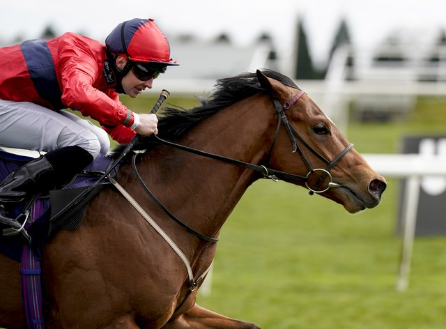 Chipotle, ridden by Charlie Bishop, winning the Unibet Brocklesby Conditions Stakes at Doncaster