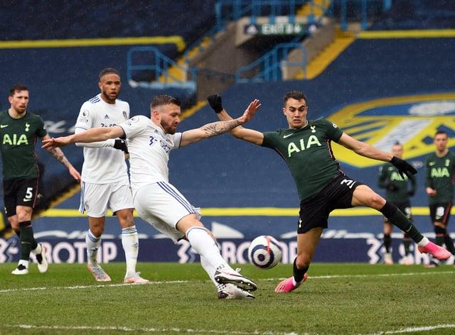 Stuart Dallas lashed in his eighth Premier League goal of the season against Tottenham