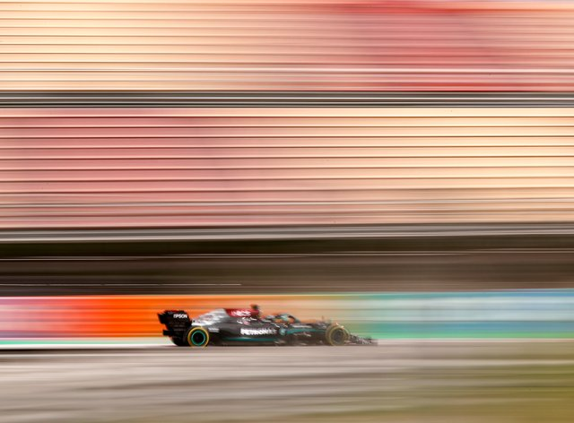 It was another win for Lewis Hamilton