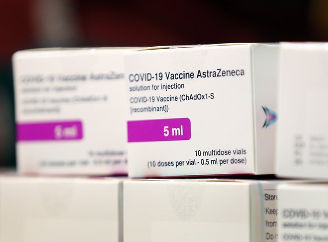 Boxes containing doses of vaccine