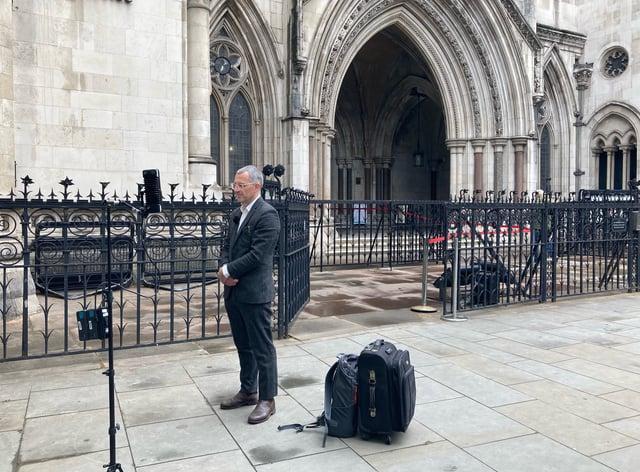 Tim Crosland contempt of court hearing