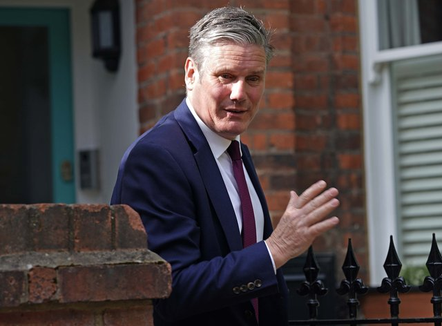 Labour leader Sir Keir Starmer leaves his north London home