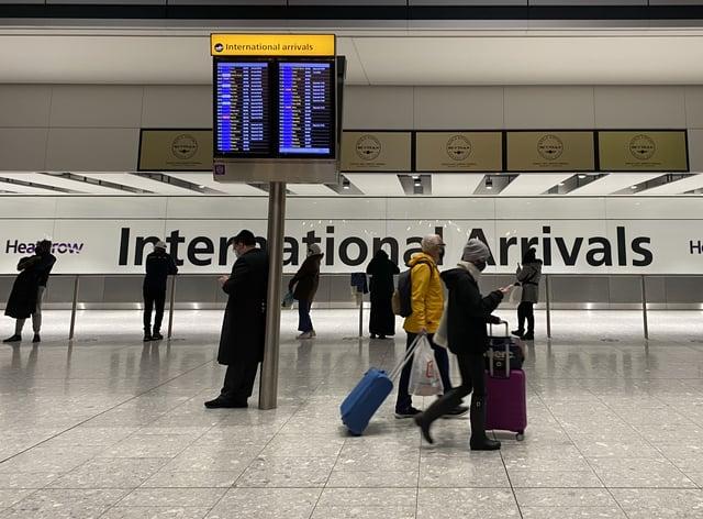 Passengers arrive at Heathrow Terminal 5