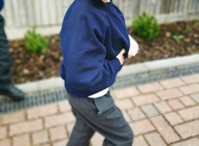 Archie Wilks in his school uniform