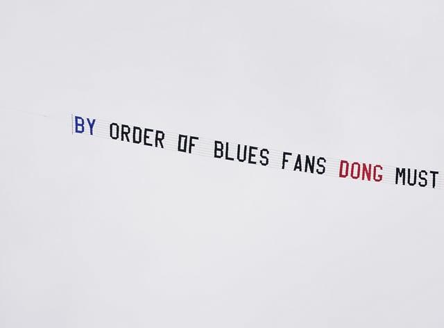 A Birmingham fans' protest banner