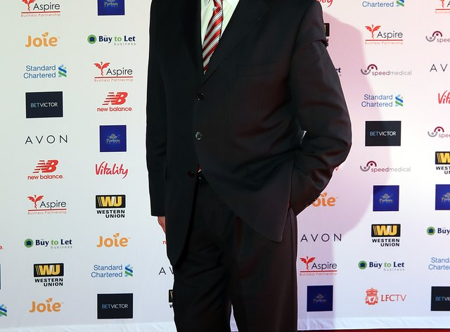 Chris Lawler at a Liverpool player of the year award ceremony