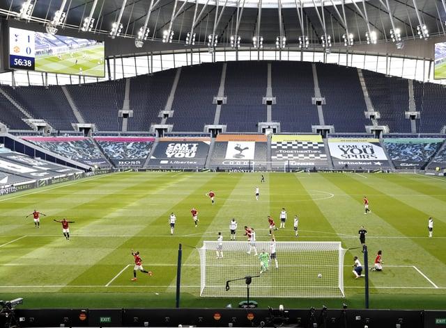 A view inside the Tottenham Hotspur Stadium