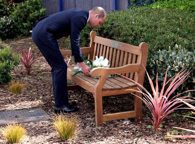 The Duke of Cambridge lays a wreath