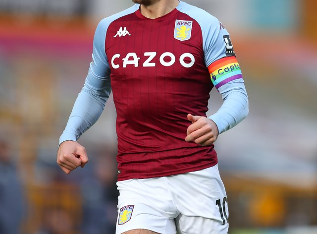 Jack Grealish in action for Villa