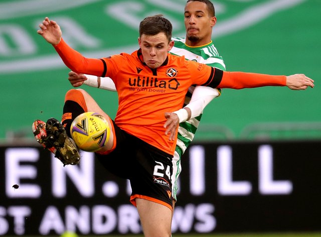 Lawrence Shankland (front) scored before missing a penalty