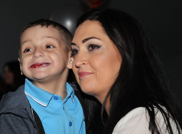 Bradley Lowery celebrates his sixth birthday with his mother Gemma