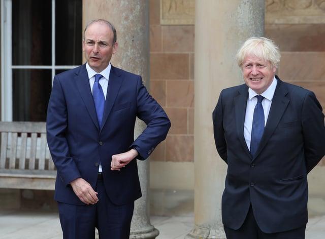 Prime Minister Boris Johnson and Taoiseach Micheal Martin