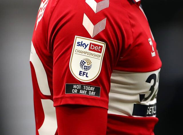 EFL logo on player sleeve