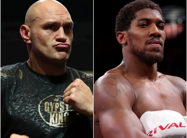 Tyson Fury (left) and Anthony Joshua