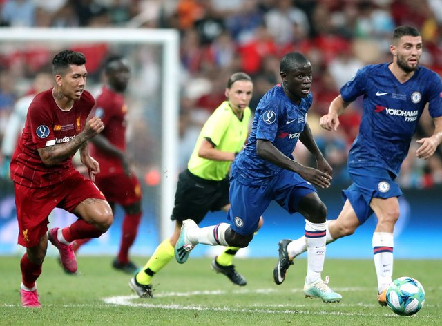 Mateo Kovacic, right, and N'Golo Kante, centre, are fit for the FA Cup final for Chelsea