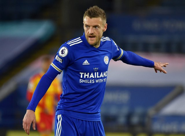 Jamie Vardy is aiming to add the FA Cup to his Premier League title