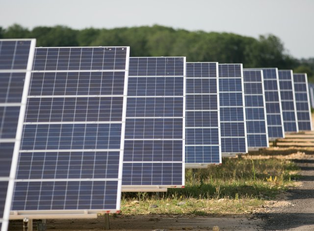 A series of solar panels