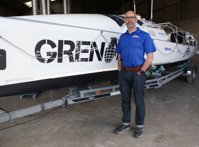 Ian Rivers and his boat, Sentinel