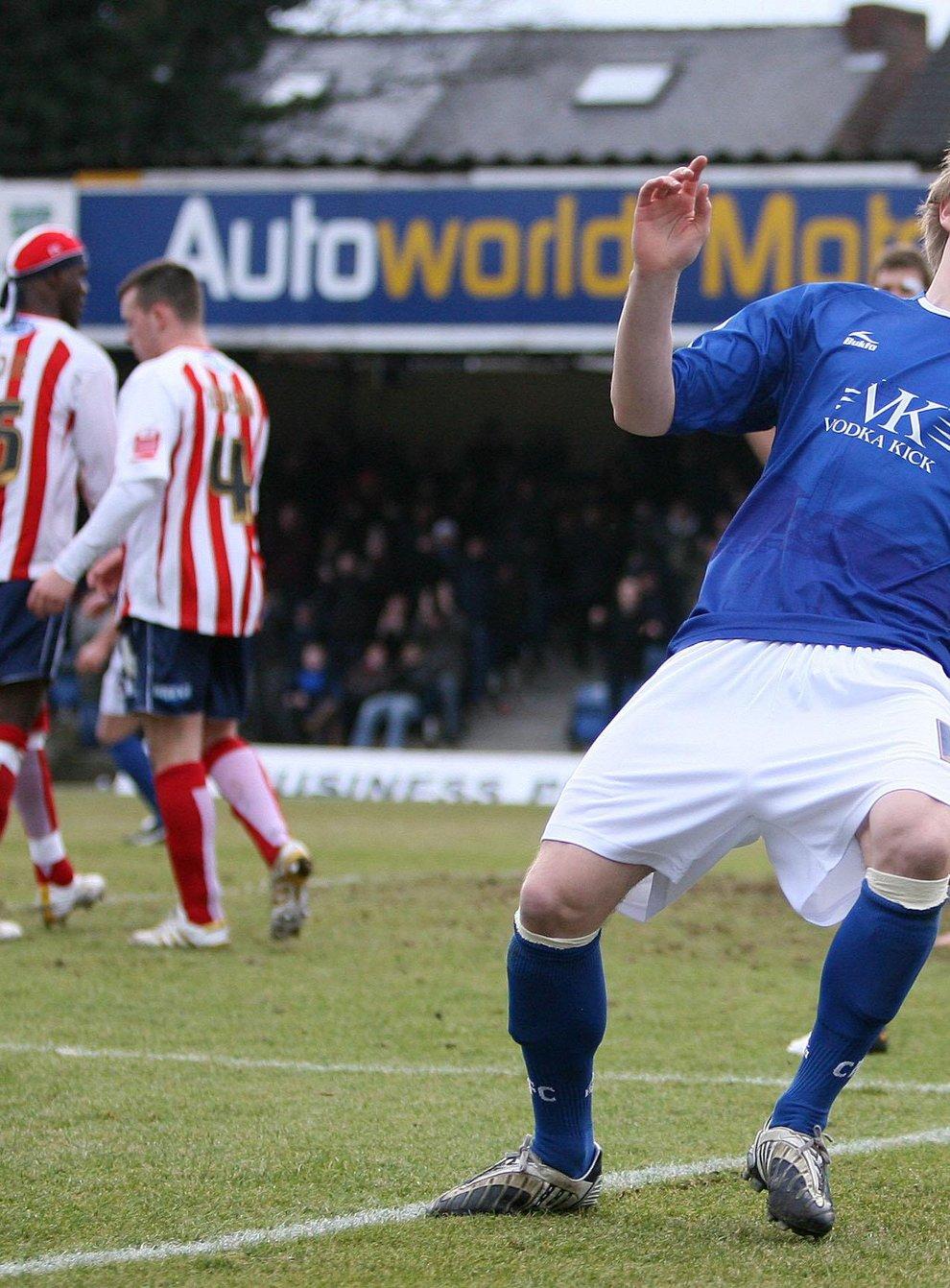 Torquay striker Scott Boden