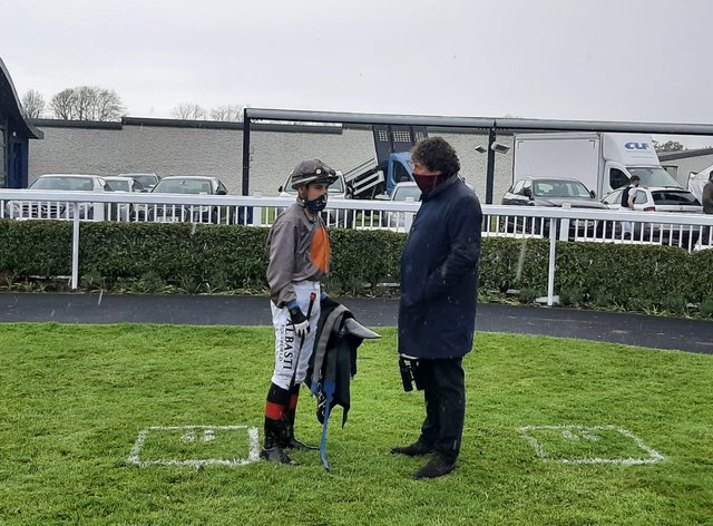 Ado McGuinness and Ronan Whelan after A Case Of You's win