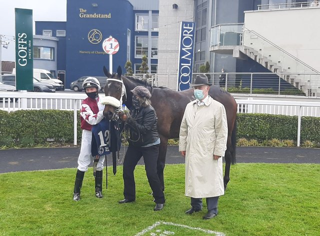 Logo Hunter after winning the Sole Power Sprint Stakes at Naas