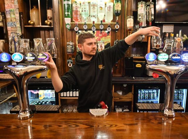 David Morgan, supervisor at The Borough pub in Cardiff (Ben Birchall/PA)