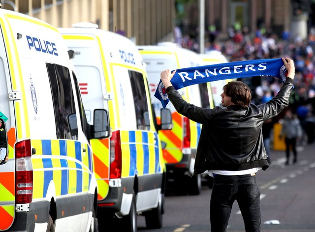 The SFA have condemned the scenes of disorder round Glasgow following Rangers' title celebrations