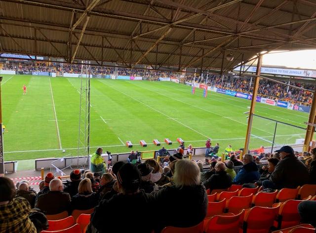 Castleford fans cheered on their team against Hull KR