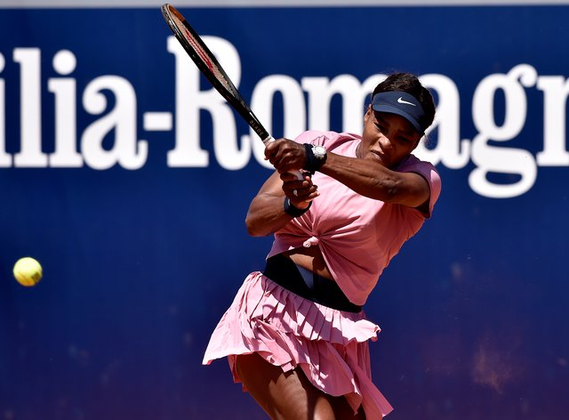 Serena Williams made a winning start in Parma