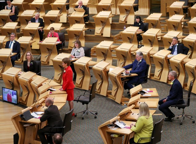 MSPs are sworn in at the Scottish Parliament