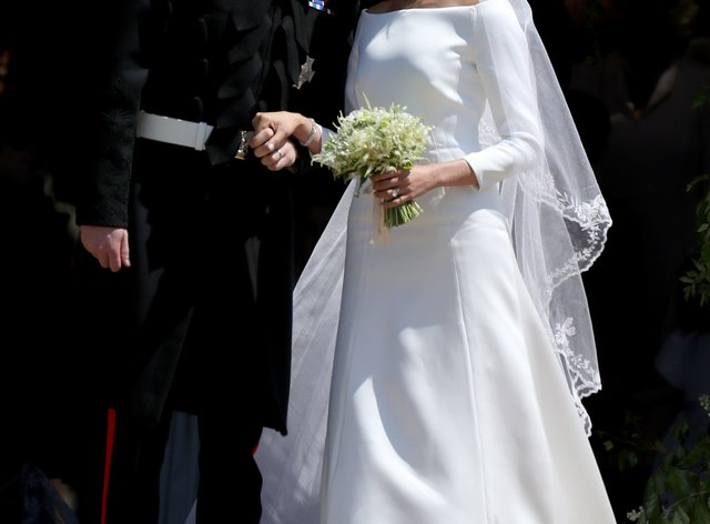 Harry and Meghan on their wedding day in 2018