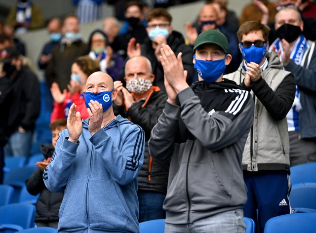 Fans were welcomed back to the Premier League on Tuesday