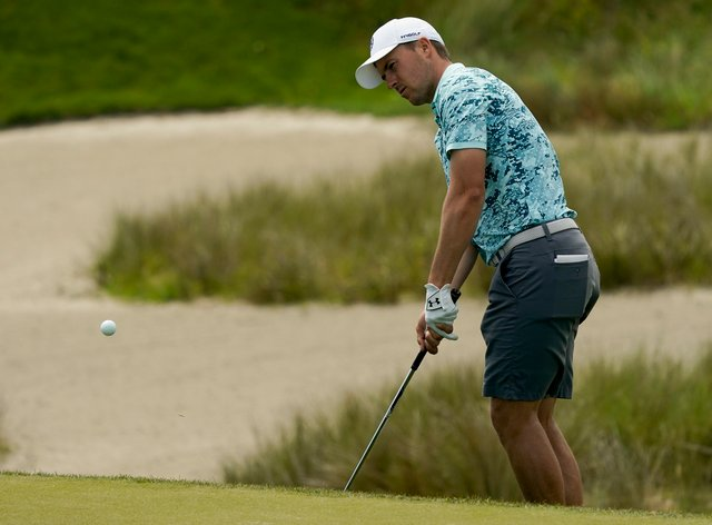Jordan Spieth during his practice round on the Ocean Course at Kiawah Island