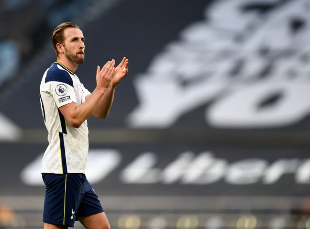 Harry Kane went to all four corners of the ground to salute the fans at full-time