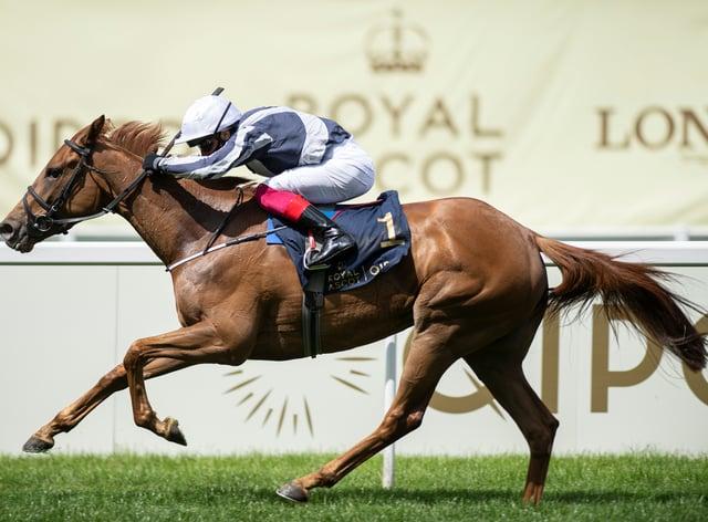 Alpine Star winning the Coronation Stakes at Royal Ascot