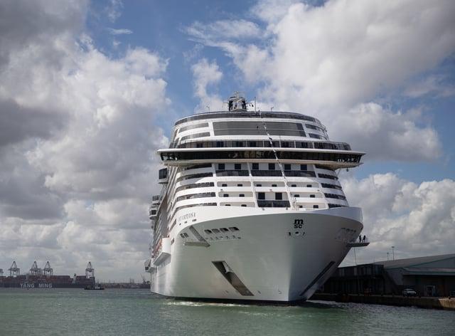 The cruise ship MSC Virtuosa