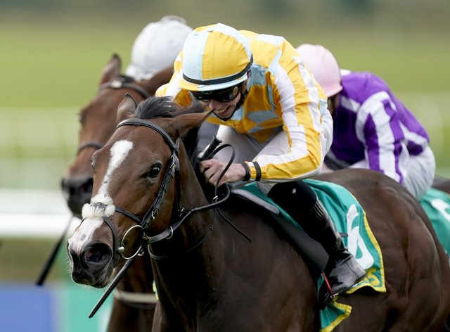 Pretty Gorgeous winning the Fillies' Mile