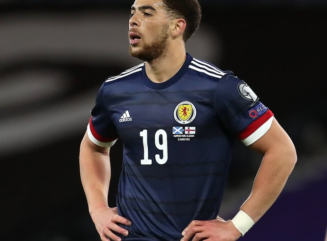 Che Adams playing for Scotland