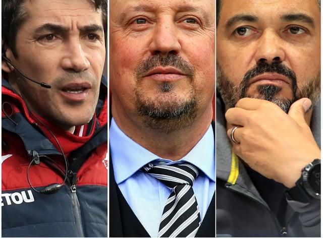 Bruno Lage, Rafael Benitez and Sergio Conceicao