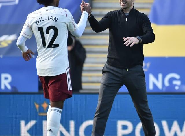 Willian and Mikel Arteta