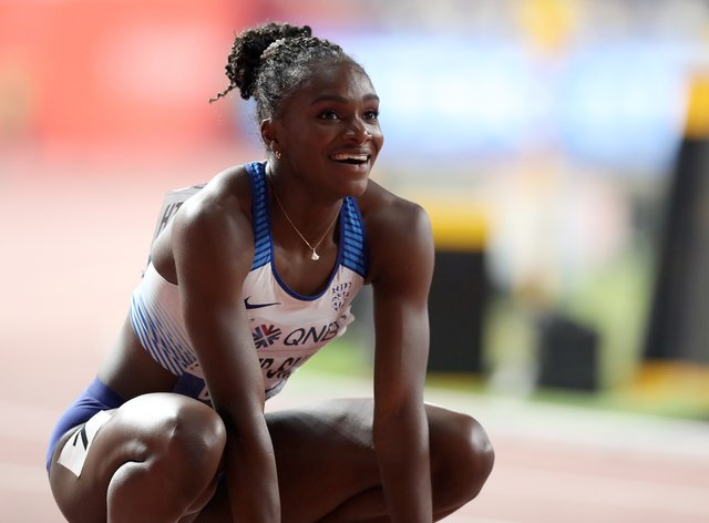 Dina Asher-Smith, pictured, will compete against Sha'Carri Richardson and Shelly-Ann Fraser-Pryce in a high-quality 100m line-up