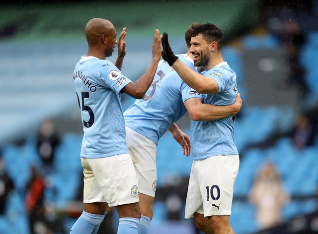 Sergio Aguero scored twice for Manchester City