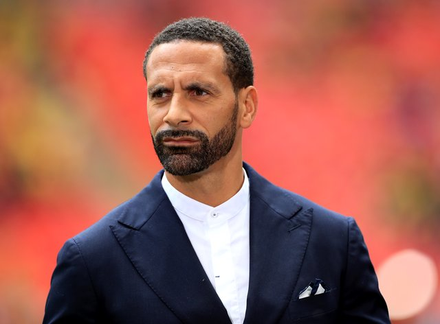 Rio Ferdinand was working as a pundit at Wolves v Manchester United (Mike Egerton/PA).